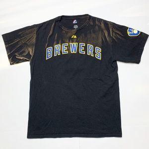 Milwaukee Brewers Ryan Braun 8 Jersey Shirt